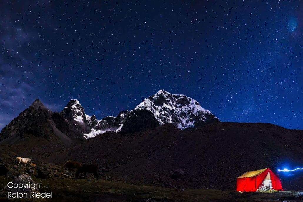 Camp Ausangate Nacht