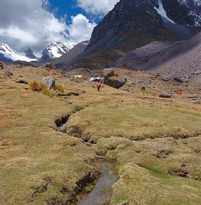 Camp Berg Ausangate Peru