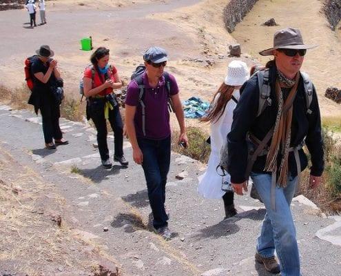 Gruppe wandern Peru