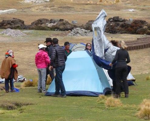 Zelten Berg Ausangate Peru